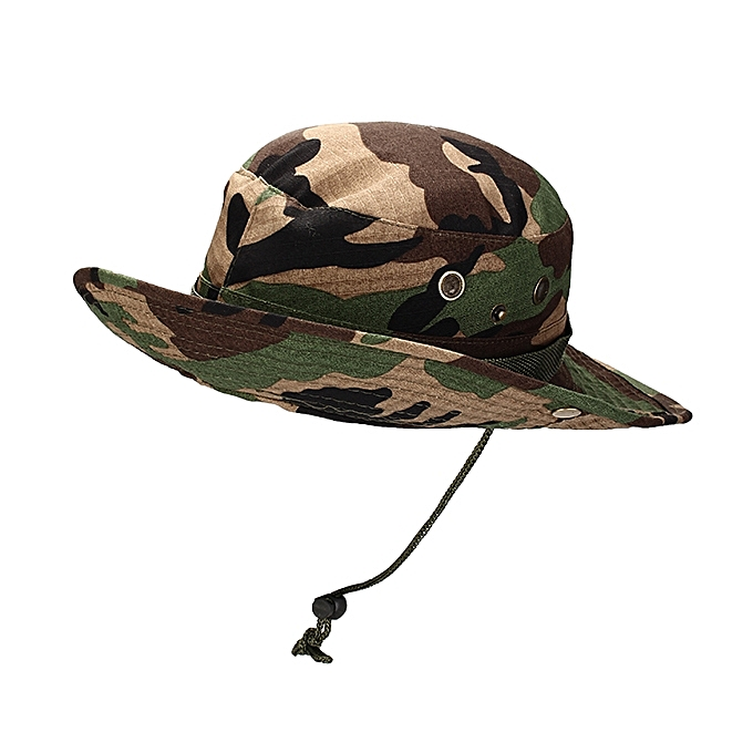 02720946b1a ... MUXINCAMP Outdoor Fisherman Hat Military Ben Nepalese Jungle Rounded  Edges Bucket Hat ...