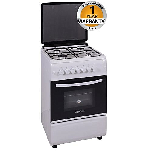 BGC 6640NW - Free Standing Gas Cooker - 60cm x 60cm - White