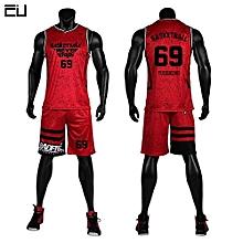 ac7174697 Men  039 s Customized Basketball Team Sports Jersey Uniform Set-Red(GY7305