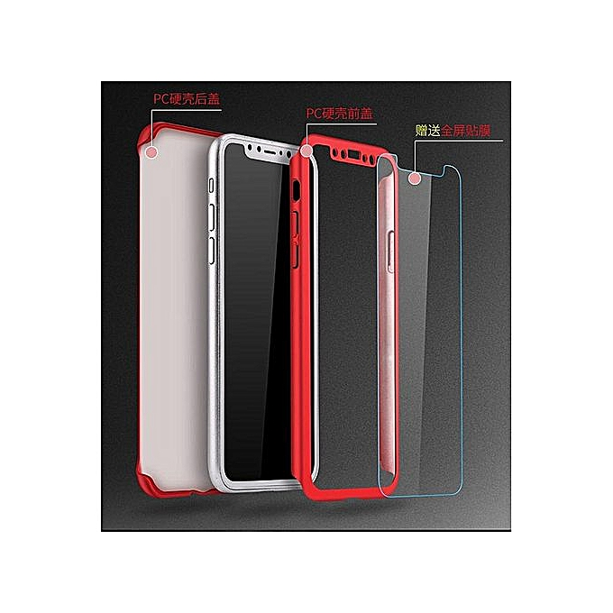 finest selection ff7c0 15e88 Generic For Xiaomi Redmi Note 5 / Redmi Note 5 AI Casing 360 Degree Real  Full Body Ultra-thin Hard Slim PC Case With Tempered Gl