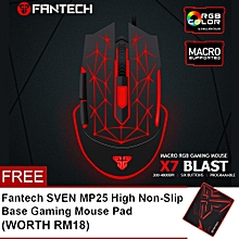 FANTECH (SP25) X7 BLAST 4800 DPI USB Optical Macro Customization Programable Gaming Mouse with RGB Light HT
