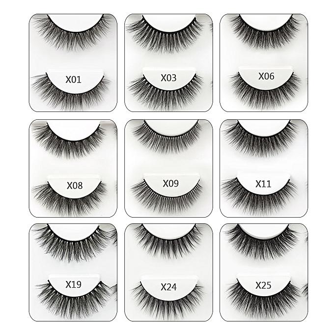 7e148d122d3 ... SHIDISHANGPIN 3 pairs false eyelashes natural long 3d mink eyelashes  hand made mink lashes full strip ...