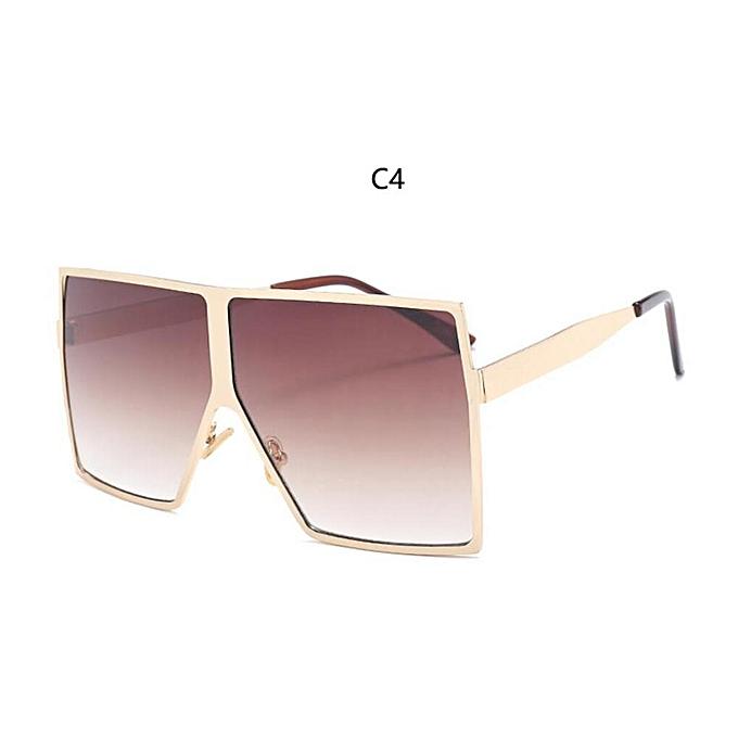 cc39012cf6d7 Metal Square Women Sunglasses 2019 Brand Designer Flat Top Gradient  Sunglasses Oversized Shades Summer Trendy Gradient