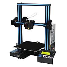 A10 Quickly Assembly 3D Printer - EU Plug - Black