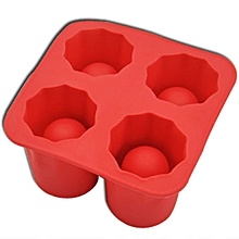 Cup Mold Silicone Mold Tools Ice Cream Ice Molds Cooking Tools Tools -Red