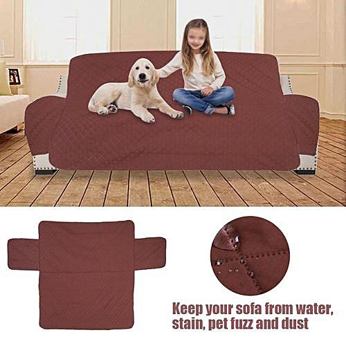 Generic Minxin 1 2 3 Seat Waterproof Quilted Sofa Cover Slipcover