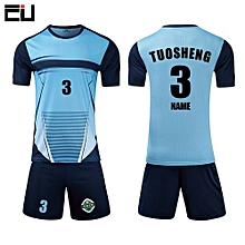 Casual Customized Men's Football Soccer Team Sports Jersey Uniform-Blue(LT-1704)
