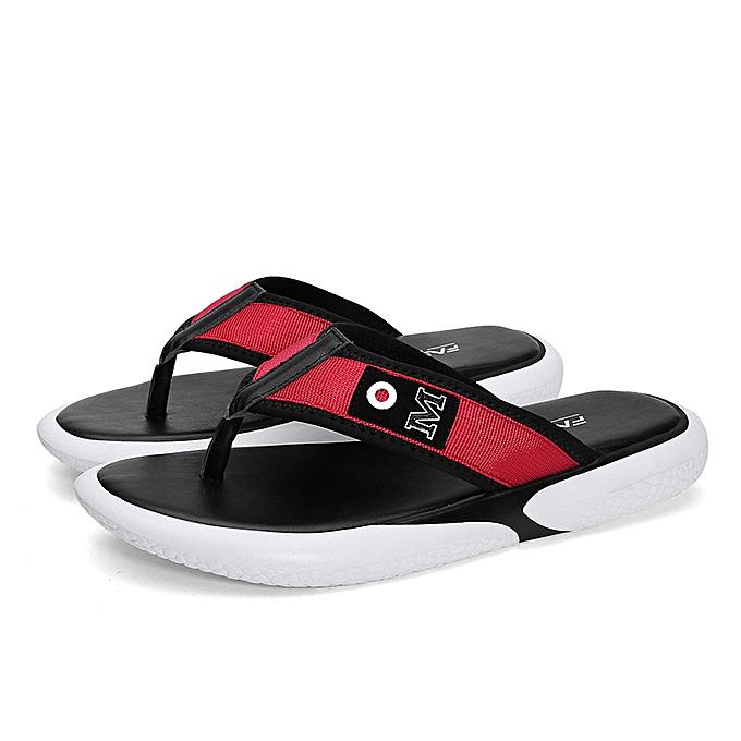 57f3e8862451 Fashion Men s Mesh Flip Flops Beach Flats Summer Outdoor Slippers ...