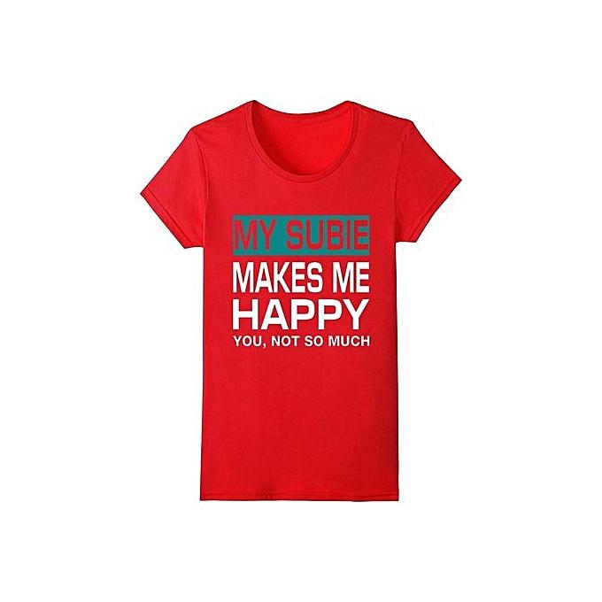 1c4b42332e Customized Clothes Store Womens Short Sleeve Organic Cotton T-Shirt Pigeons  My Subie Makes Me