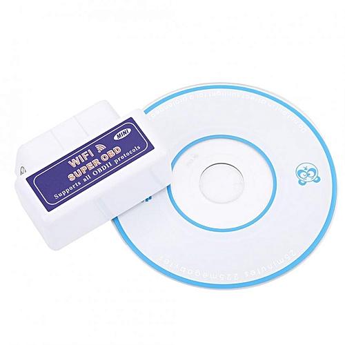 Mini WiFi V1 5 OBDII Car Diagnostic Scanner Tool Universal (White)