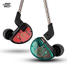KZ AS10 Headphones 5BA Balanced Armature Driver HIFI Bass In Ear Earphones In Ear Monitor Sport Headset Noise Cancelling Earbuds  XBQ-A