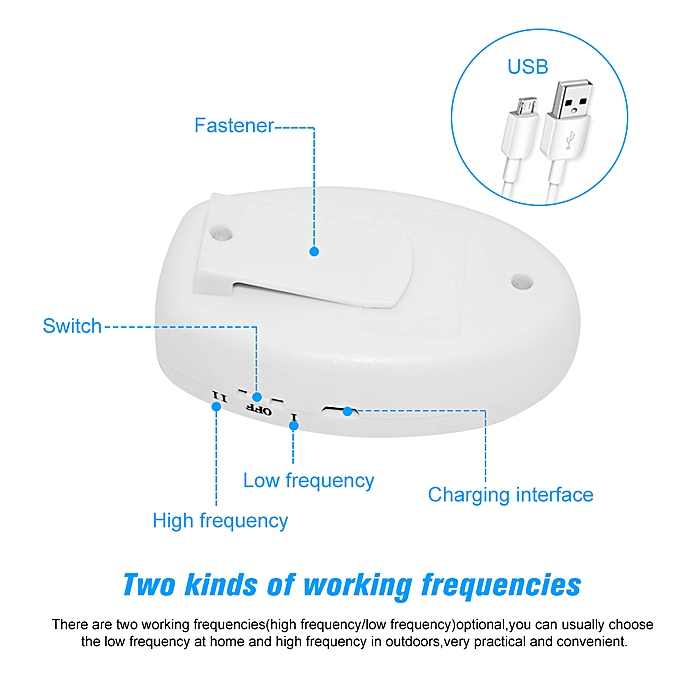 Portable Intelligent Electronic Ultrasonic Mosquito Insect Repellent Pest Reject Insect Killer Adjustable And Usb Charging Port Access Control Kits