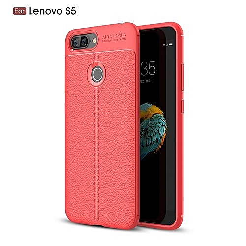 hot sale online 5f386 d51e4 Lenovo S5 Silicone Case, Litchi Pattern TPU Anti-knock Phone Back Cover For  Lenovo S5 - Red.