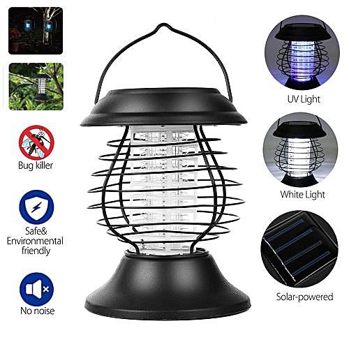 Solar Powered UV LED Pest Bug Zapper Lamp Light Insect Mosquito Killer  Garden