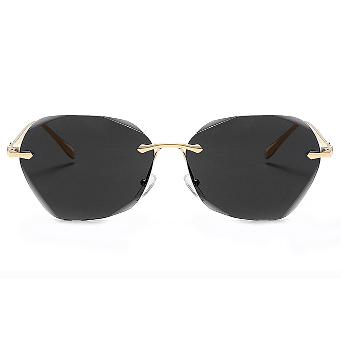 1decfa075ab New Color Ocean Film Frameless Sunglasses Sunglasses Women Trends Sunglasses  - Silver Box Under Blue Powder
