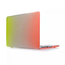 Matte Rainbow Hard Protector Case For Macbook Pro Retina 15-inch A-Ayellow+orange