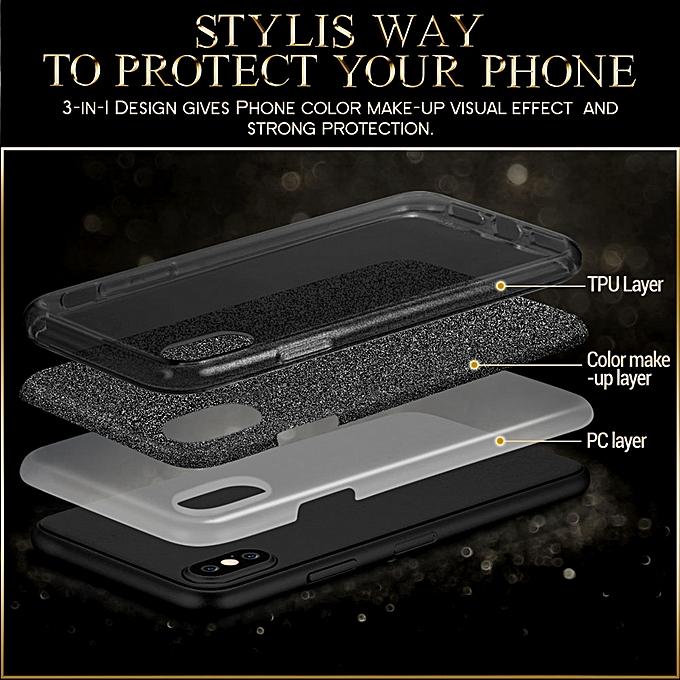 e0bca386d0 ... ESR Makeup Series TPU + PC Glitter Case for iPhone X / XS (Black) ...
