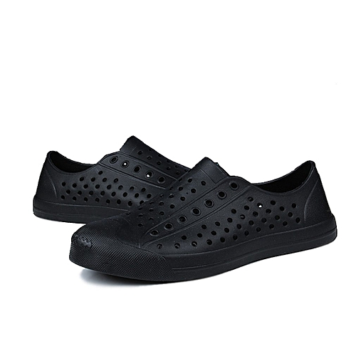 59b27f8d51dec Allwin Lightweight Men Shoes Slippers EVA Breathable Shoes Hollow Out Flat  Sandals black 45   Best Price