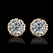 Simple Fashion Diamond  Ear Stud Earrings Women Jewelry  C