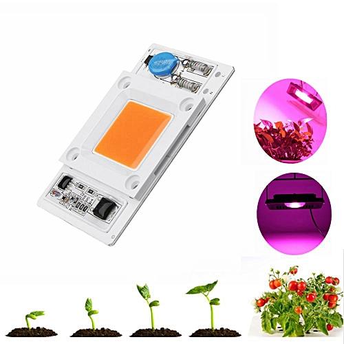 LUSTREON 50W Non-drive Thunder Protection COB LED Chip for DIY Grow Light  Plant Lamp AC180-300V -