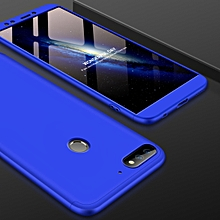GKK for Huawei Honor Play 7C PC 360 Degrees Full Coverage Protective Case Back Cover Not Available in Russian Version(Blue)