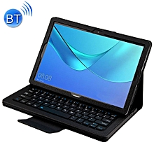Detachable Bluetooth Keyboard + Litchi Texture Horizontal Flip Leather Case for Huawei MediaPad M5 Pro / M5 10.8 inch, with Holder(Black)