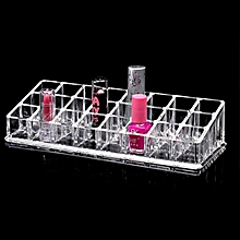 24 Section Cosmetic Makeup Case Clear Acrylic Display Stand Organise Lipstick Holder
