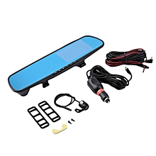 OR 4.3 Inch TFT Display 170 Degree Wide Angle Car Rearview Mirror Monitor-black