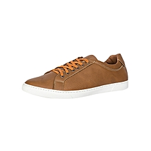 Tobacco Men's Pure Leather Sneakers