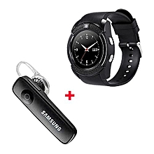 S006 Smart Berry Smart Watch with Free Bluetooth- Black