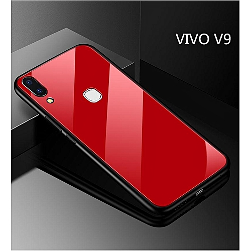 sale retailer d979c 87587 For Vivo V9 Glass Case HD Clear Full Body Back Tempered Cover Tempered  Glass Casing For Vivo V9 297558 c-1 (Color:Main Picture)