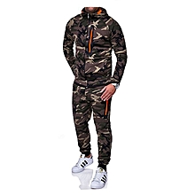 Men's Outdoor Camouflage Tops and pants Sublimation Camouflage Sets-green