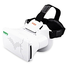 Riem III Virtual Reality 3D Head-Mounted Glasses with Remote Control-WHITE