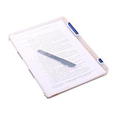 A4 Transparent Storage Box Clear Plastic Document Paper Filling Case File-Blue