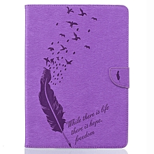 Classic PU Leather Flip Cover Case For Apple iPad 3(Purple) Mll-S