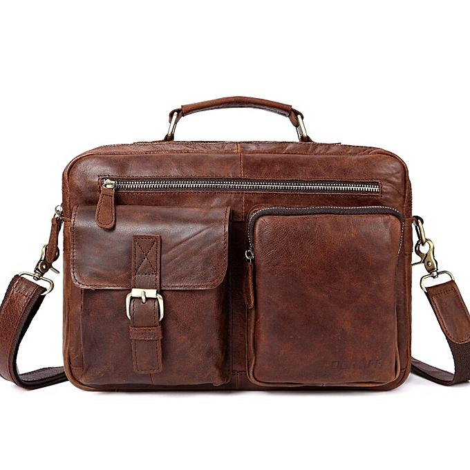 ea1a34187947 OGRAFF Large Messenger Bag Men Leather Briefcase Laptop Crossbody Bag  Leather Shoulder Bag Handbag Tote Famous