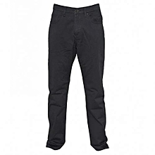 Dark Grey Mens Straight Fit Pants