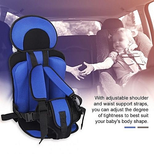 Portable Children Baby Car Safety Seat Pad Convertible Backseat Chair Cushion Blue Black