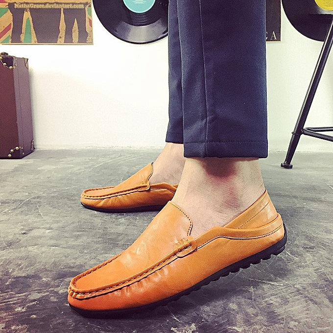 993c0e47c49 Fashion Leather Slip On Men Driving Moccasins Loafers Casual Shoes England  Dress