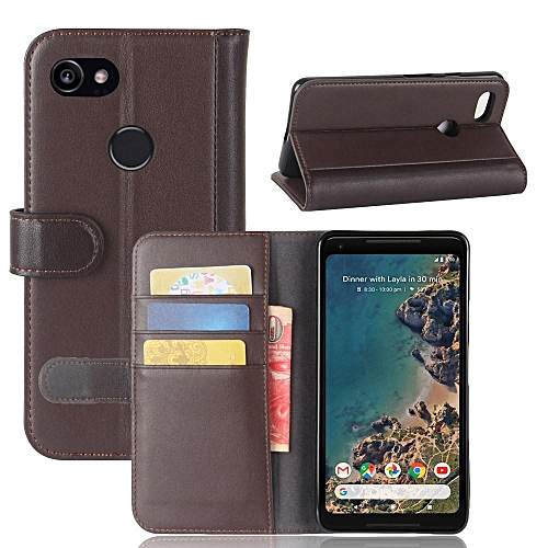 more photos 8ab15 17259 Real Leather Wallet Case Cover for Google Pixel 2 XL
