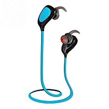 Wireless Bluetooth Sport Earphone HiFi Stereo Music In-Ear Headset Sweat-Proof With Mic Headphone - Blue