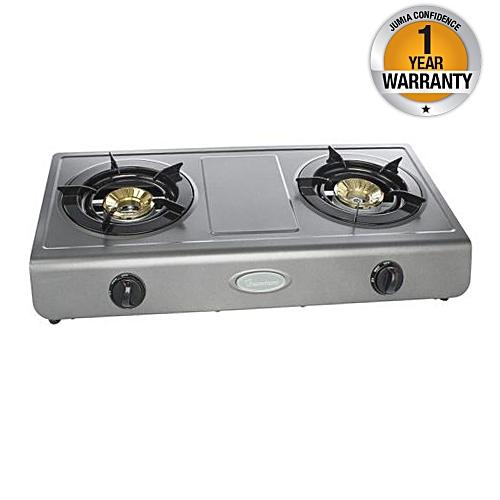 Ramtons Rg 501 Double Burner Gas Cooker Black