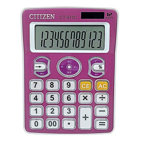 New arrivel CT-977C Solar Calculator 12-bit Creative Computer Pink  Calculator