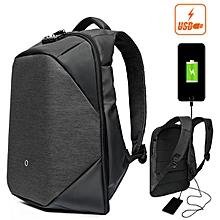 CLICK 15.6inch Men Anti Theft Laptop Backpack Waterproof Storage Bag Rucksack City Business Travel