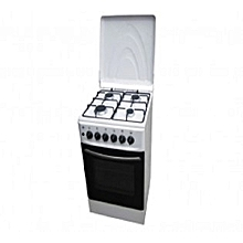 GCR4411  4 Gas Free Standing Cooker - White .