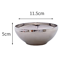 One-piece stainless steel anti-scalding anti-fall double-layer insulated rice bow