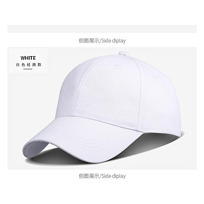 7eda572a2d Generic Men's Women's plain Cap Adjustable Baseball Unisex cap-White ...