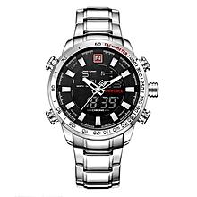NAVIFORCE NF9093 Fashion Man Dual Display Watch Multifunction Stainless Steel Sport Watch 4