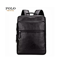 07a4f855e Vicuna Polo High Quality Designer Leather Backpack and Laptop Bag-Black