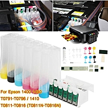 Continuous Ink System Kit Ciss Tank For 1400 1430 T0791-T0796 / 1410 T0811-T0816
